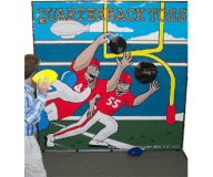 Football Toss Backdrops Game Rental