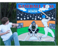 Baseball Toss Backdrop Game Rental