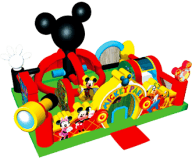 Mickey Mouse Park Learning Club Moonbounce Combo Rental