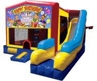 Happy Birthday  5-N-1 Moonbounce Obstacle Combo Rental