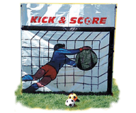 Soccer Kick Backdrop Game Rental